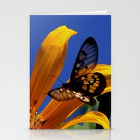 transparent Stationery Cards featuring Transparent Butterfly by Donuts