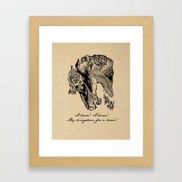 Shakespeare - Richard III - Kingdom for a Horse Framed Art Print