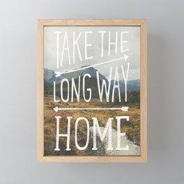 TAKE THE LONG WAY Framed Mini Art Print