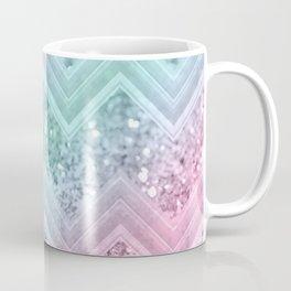 Mermaid Glitter Chevron #2 #shiny #pastel #decor #art #society6 Coffee Mug