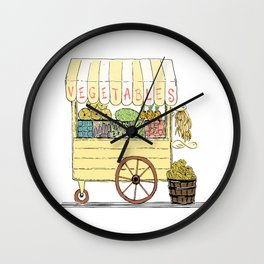 Vegetable Cart Wall Clock