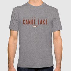 CANOE LAKE X-LARGE Tri-Grey Mens Fitted Tee
