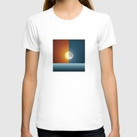 sun and moon T-shirts featuring Sun & Moon by Angelina Fenty