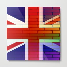 Gay Rainbow Wall Union Jack Metal Print