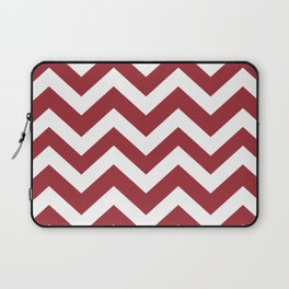 Japanese carmine - red color - Zigzag Chevron Pattern Laptop Sleeve