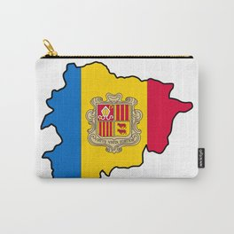Andorra Map with Andorran Flag Carry-All Pouch