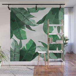Tropical Palm Print Wall Mural