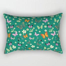 New Watercolour Butterflies XIV (colorful butterflies) Rectangular Pillow