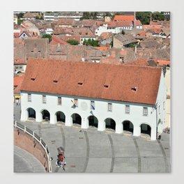 Museum of Ethnography and Folk Art sibiu city romania architecture landmark Canvas Print
