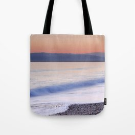 Pink waves. Sunset Tote Bag