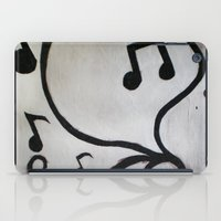 music notes iPad Cases featuring Music Notes by S. Vaeth
