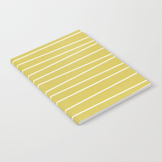MId century modern textured stripes Notebook