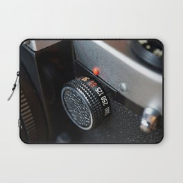 Control dial shutter speed on retro photo camera Laptop Sleeve