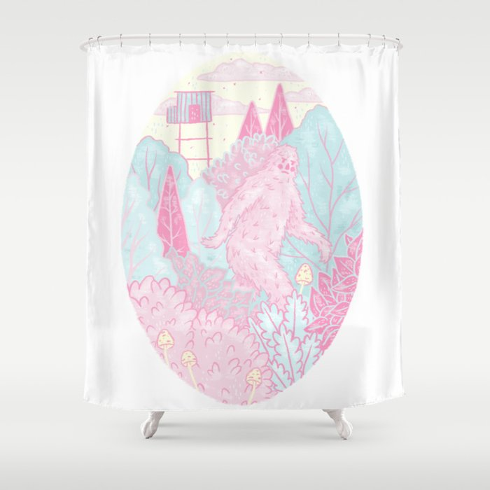 Out For A Walk Shower Curtain by pearlclapp | Society6