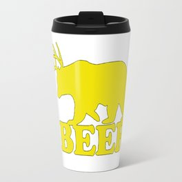 "Funny ""Beer"" Design T-Shirt Travel Mug"