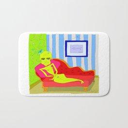 """""""Stealing Matisse"""" (Picasso Watching) Bath Mat"""