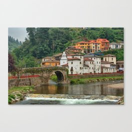 Stone Bridge Asturias Spain Canvas Print