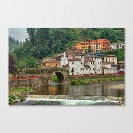Stone Bridge Asturias Spain Canvas Print