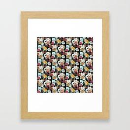 Super Lucky Pattern in Black Framed Art Print