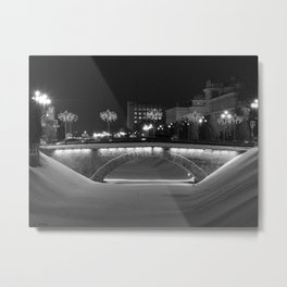 Night Bridge Metal Print