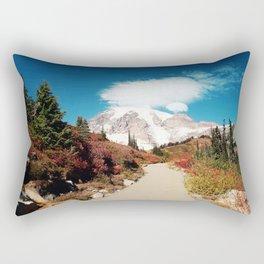 Mt Rainier in Autumn Rectangular Pillow