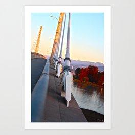 A bridge very near Art Print