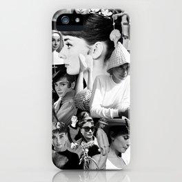 Audrey Hepburn Montage 1 iPhone Case