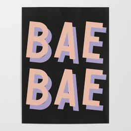Bae Bae - Typography Poster