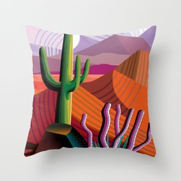 Black Canyon Desert Throw Pillow