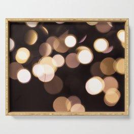 Golden Glimmer Serving Tray