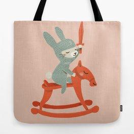 Rabbit Knight Tote Bag