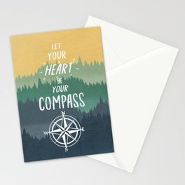Let Your Heart Be Your Compass Stationery Cards