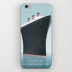 Vintage Travel Poster - Cruise Ship iPhone & iPod Skin