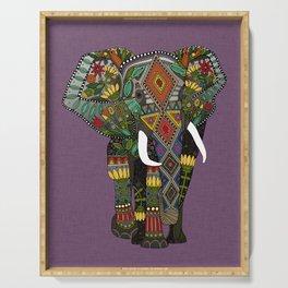 floral elephant violet Serving Tray