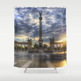 Heroes Square Budapest Sunrise Shower Curtain