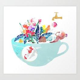 Tropical milk dream Art Print