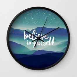 Believe in Yourself Wall Clock