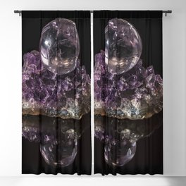 Amethyst crystal ball on Amethyst crystals Blackout Curtain