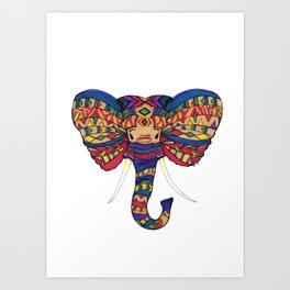 Niru the Noble Elephant Art Print