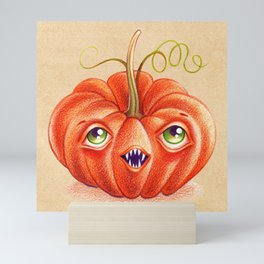 Wacky Pumpkin Mini Art Print