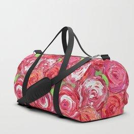 Big Fat Pink Cabbage Roses Duffle Bag