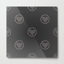 Cute Hearts Background. Seamless Pattern with hearts. Metal Print