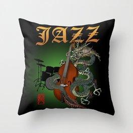 Dragon Contrabass2 Throw Pillow