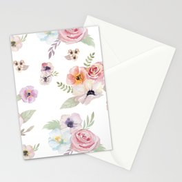 Floral I - White Stationery Cards