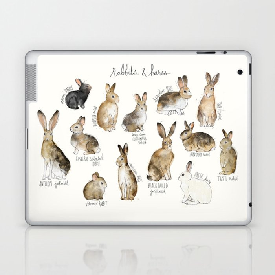 Rabbits & Hares Laptop & iPad Skin