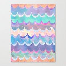 Mia Wave {Aqua} Canvas Print