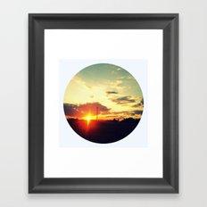 October Sunset Framed Art Print