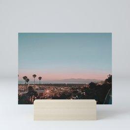 summer sunset / santa monica, california Mini Art Print