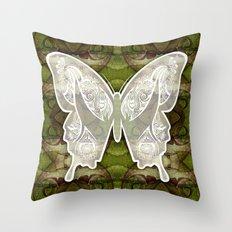 Henna Butterfly No. 3 Throw Pillow