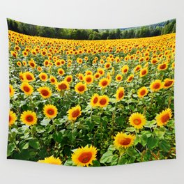 Field of Sunny Flowers Wall Tapestry